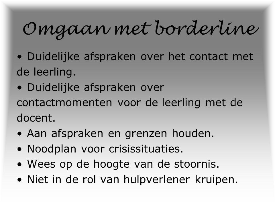 Feiten In Nederland zijn naar schatting 100.000 mensen met een borderline.