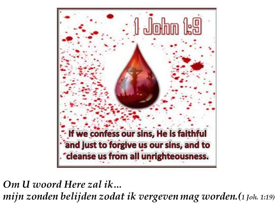 Om U woord Here zal ik… mijn zonden belijden zodat ik vergeven mag worden.( 1 Joh. 1:19)
