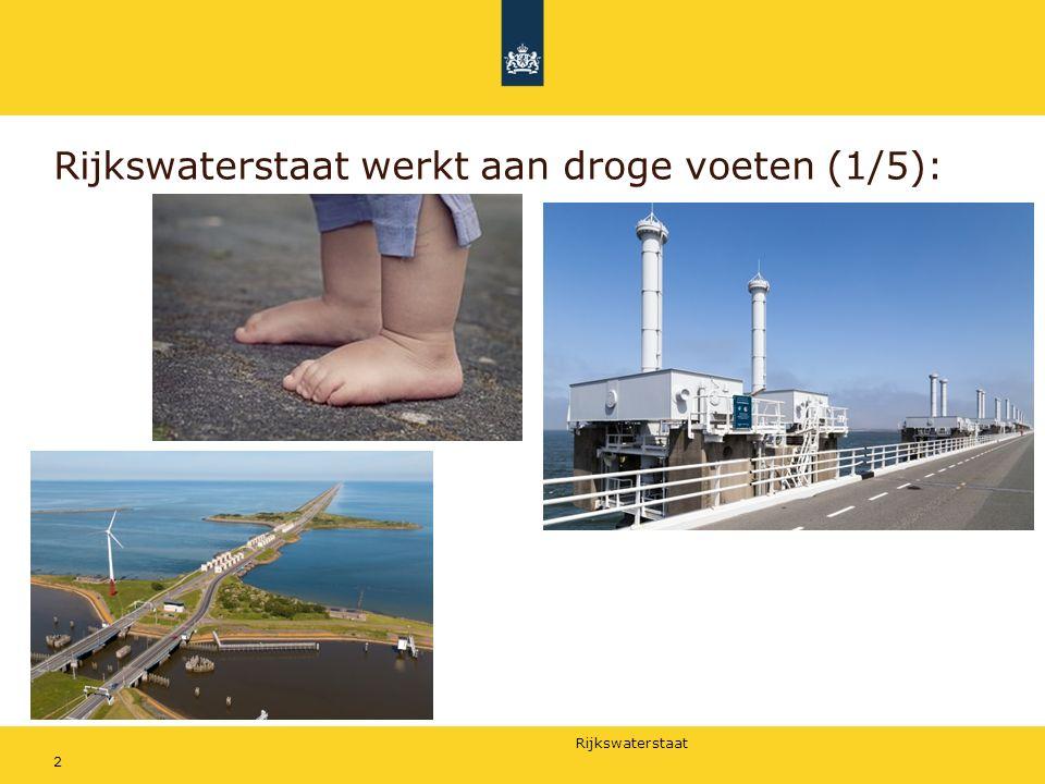 Rijkswaterstaat Rijkswaterstaat werkt aan voldoende en schoon water (2/5): 3