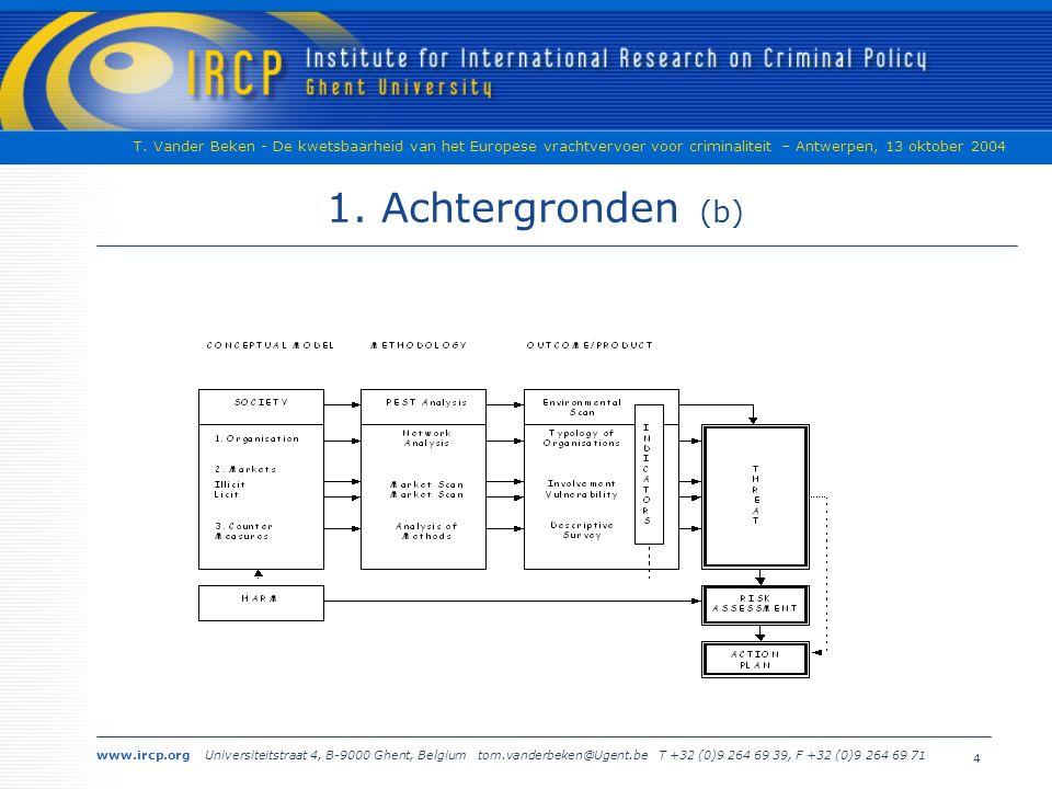 www.ircp.org Universiteitstraat 4, B-9000 Ghent, Belgium tom.vanderbeken@Ugent.be T +32 (0)9 264 69 39, F +32 (0)9 264 69 71 T.