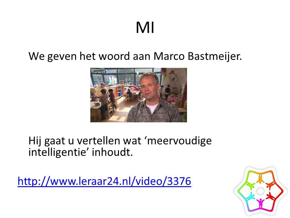 MI We geven het woord aan Marco Bastmeijer.