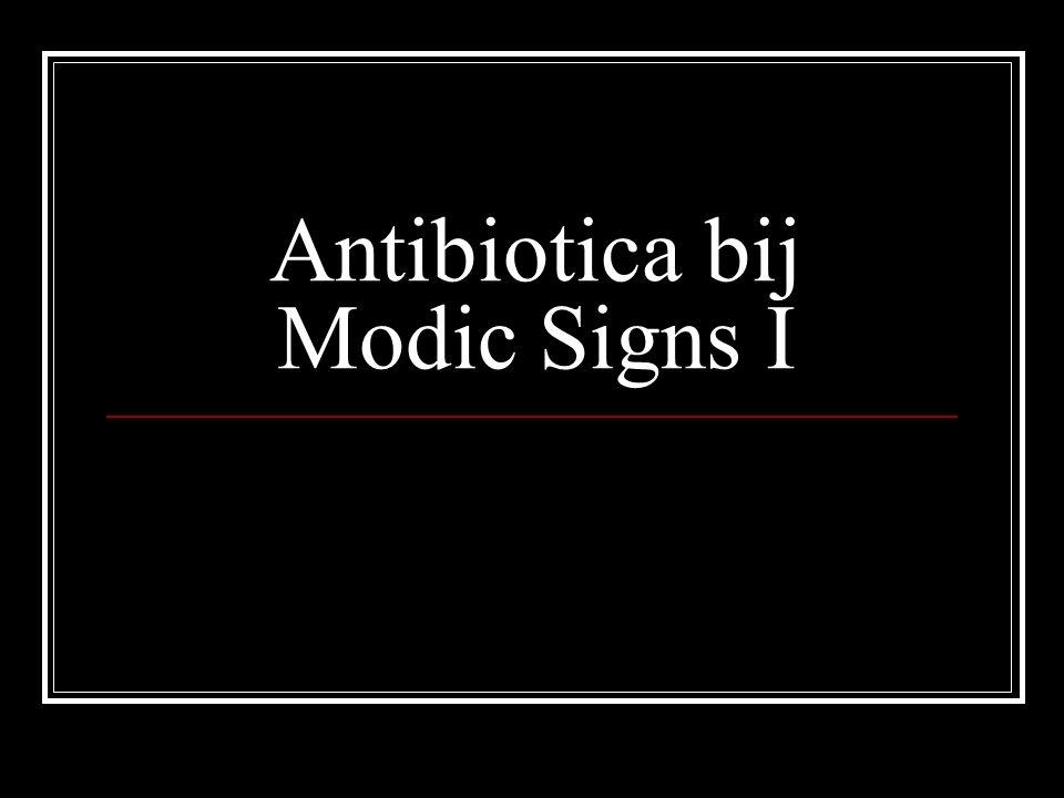 Antibiotica bij Modic Signs I