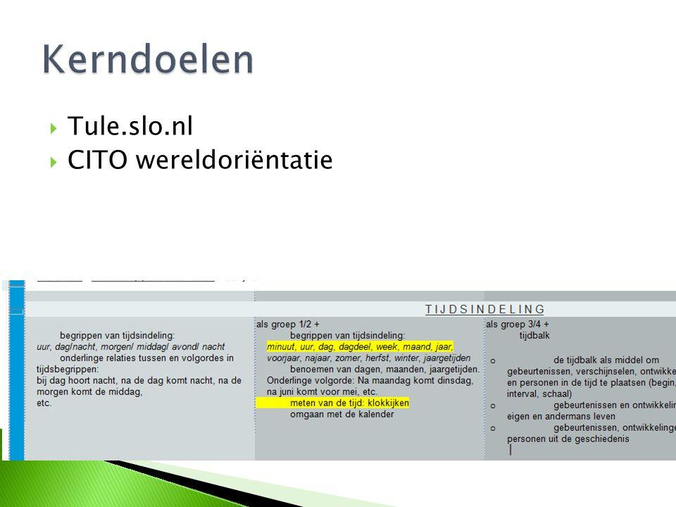  Tule.slo.nl  CITO wereldoriëntatie