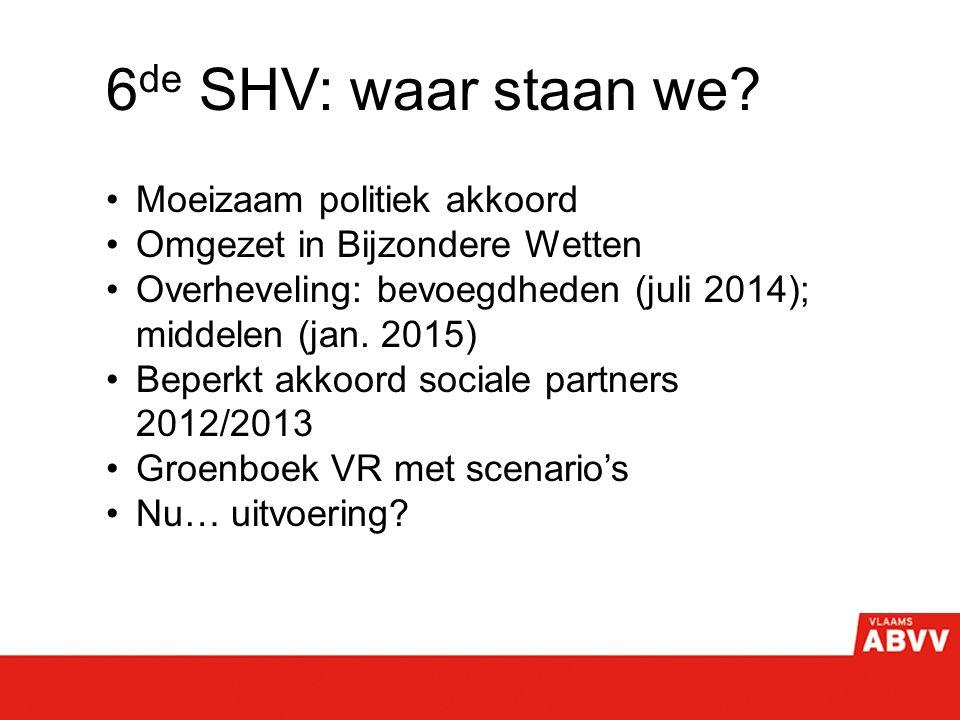 6 de SHV: waar staan we.
