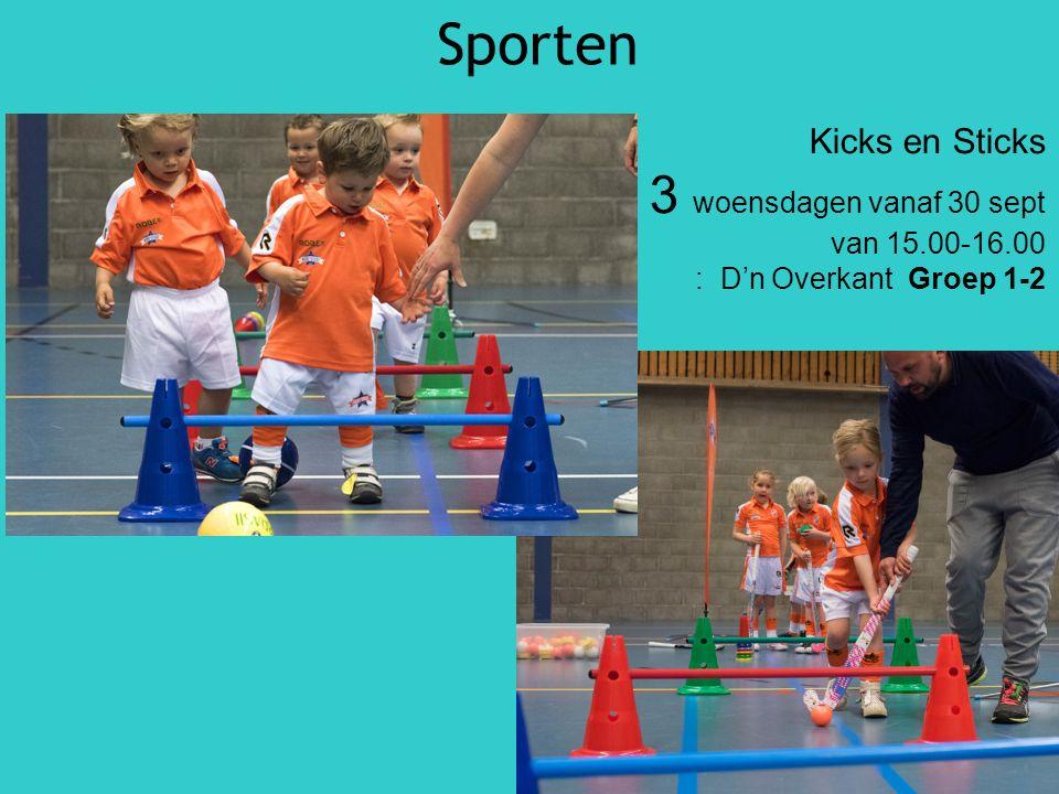 Sporten Kicks en Sticks 3 woensdagen vanaf 30 sept van 15.00-16.00 : D'n Overkant Groep 1-2