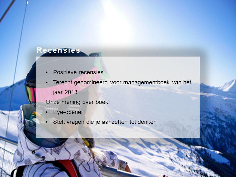 Positieve recensies Terecht genomineerd voor managementboek van het jaar 2013 Onze mening over boek: Eye-opener Stelt vragen die je aanzetten tot denken Recensies