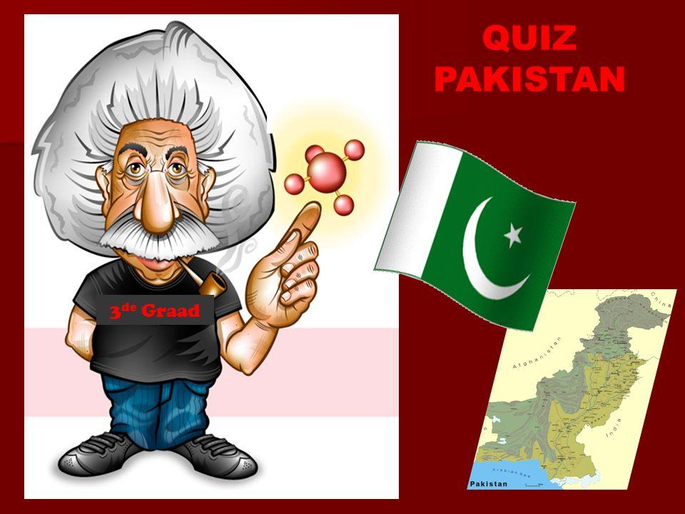 Wat is de officiële taal in Pakistan? 1. Punjabi 2. Urdu 3. Arabisch Che = 6