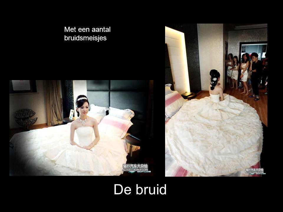 Laatste make-up van de bruid