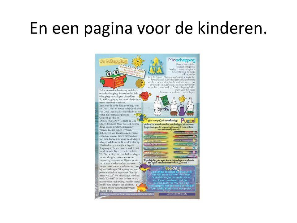 En een pagina voor de kinderen.