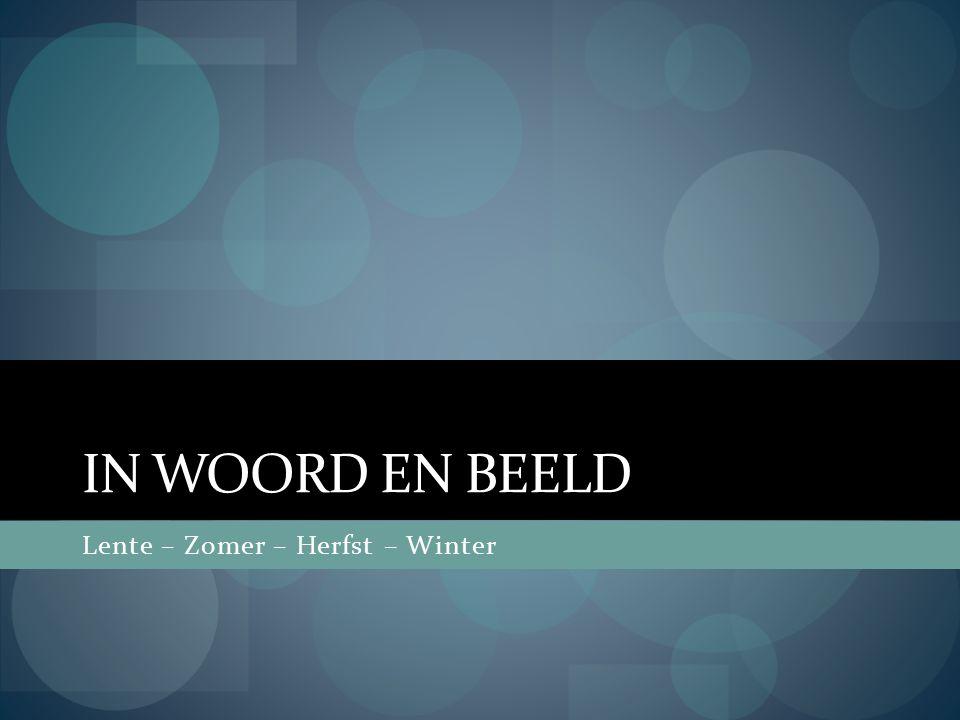 IN WOORD EN BEELD Lente – Zomer – Herfst – Winter