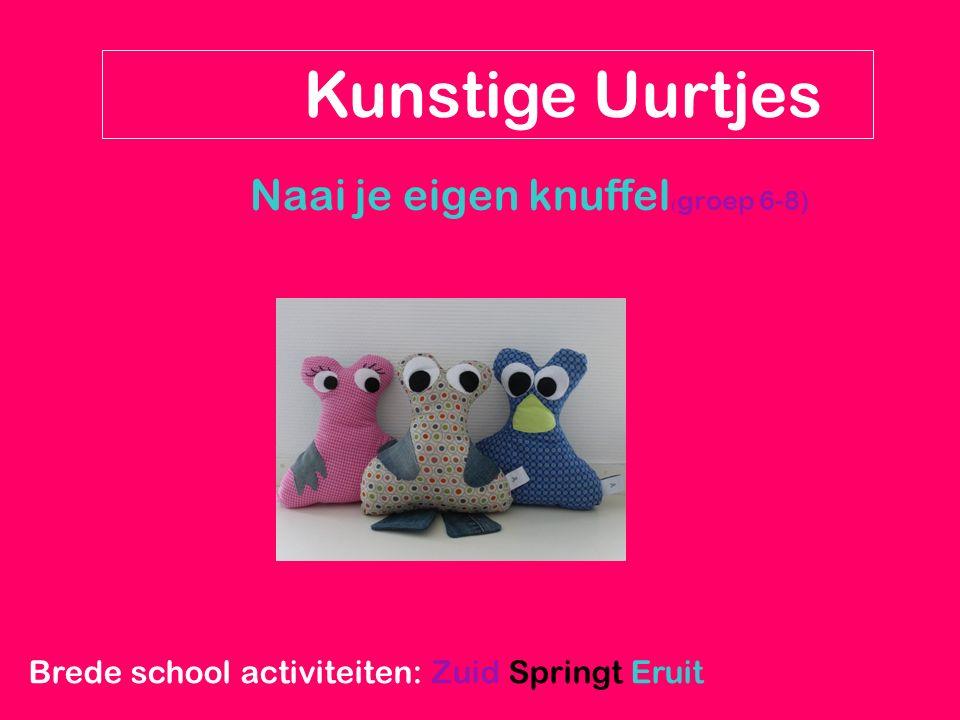 Naai je eigen knuffel ( groep 6-8) Kunstige Uurtjes Brede school activiteiten: Zuid Springt Eruit