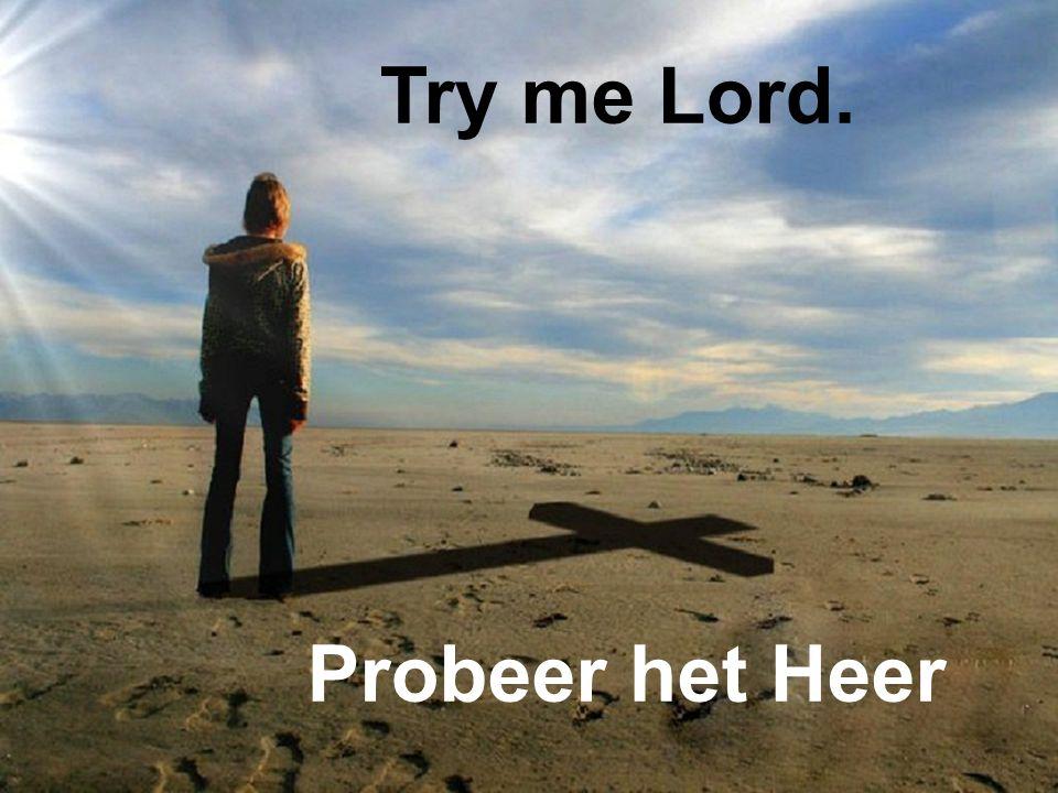 Try me Lord. Probeer het Heer