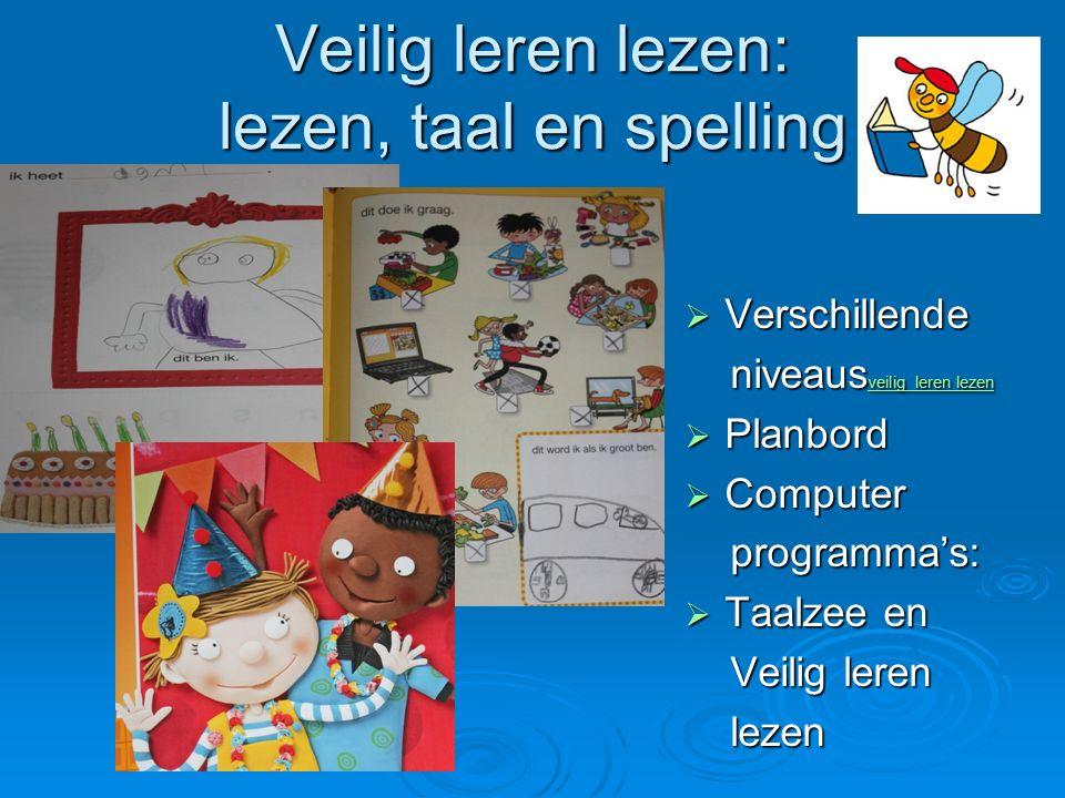 Veilig leren lezen: lezen, taal en spelling  Verschillende niveaus veilig leren lezen niveaus veilig leren lezen veilig leren lezen veilig leren leze