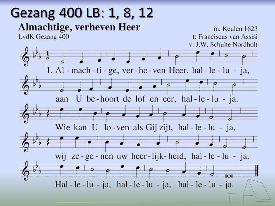 Gezang 400 LB: 1, 8, 12