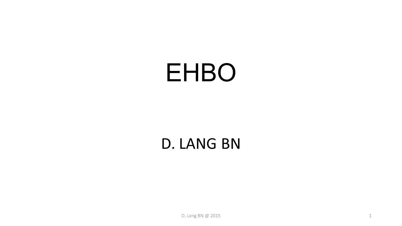 EHBO D. LANG BN D. Lang BN @ 20151