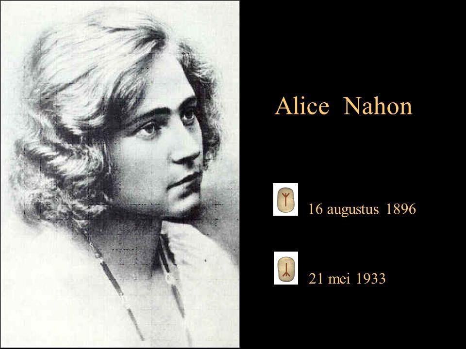 16 augustus 1896 21 mei 1933 Alice Nahon