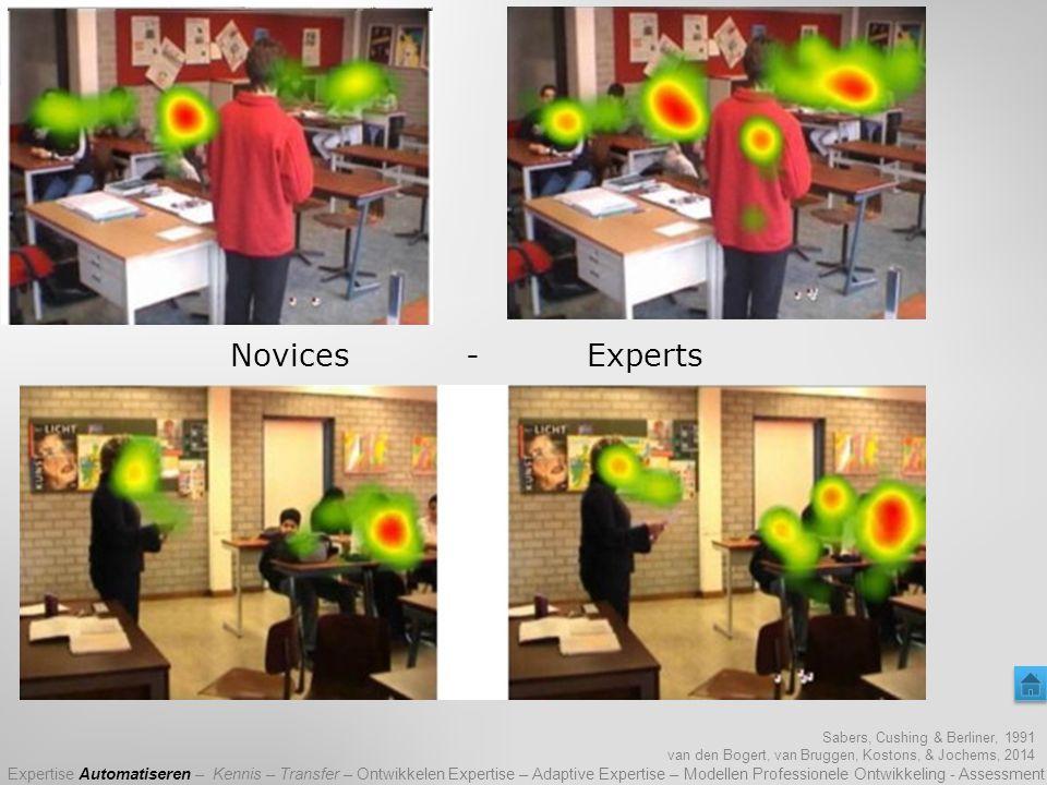 Waar heb jij naar gekeken? Sabers, Cushing & Berliner, 1991 van den Bogert, van Bruggen, Kostons, & Jochems, 2014 Expertise Automatiseren – Kennis – T