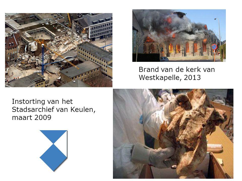 Instorting van het Stadsarchief van Keulen, maart 2009 Brand van de kerk van Westkapelle, 2013