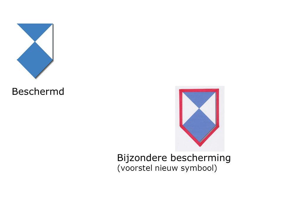 Beschermd Bijzondere bescherming (voorstel nieuw symbool)