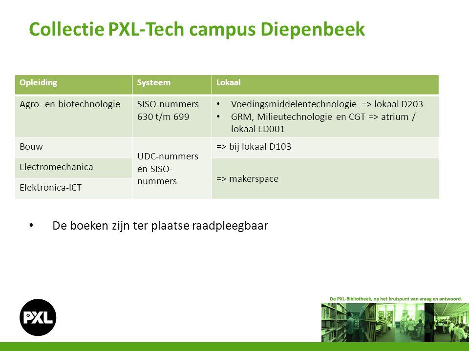 Collectie PXL-Tech campus Diepenbeek OpleidingSysteemLokaal Agro- en biotechnologieSISO-nummers 630 t/m 699 Voedingsmiddelentechnologie => lokaal D203