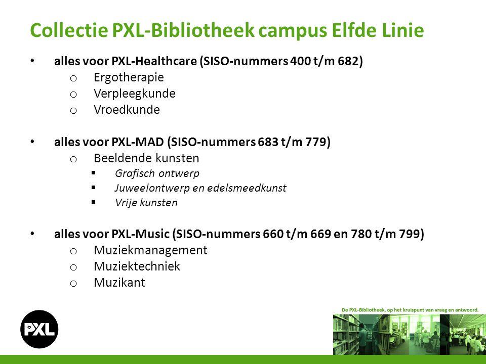 alles voor PXL-Healthcare (SISO-nummers 400 t/m 682) o Ergotherapie o Verpleegkunde o Vroedkunde alles voor PXL-MAD (SISO-nummers 683 t/m 779) o Beeld
