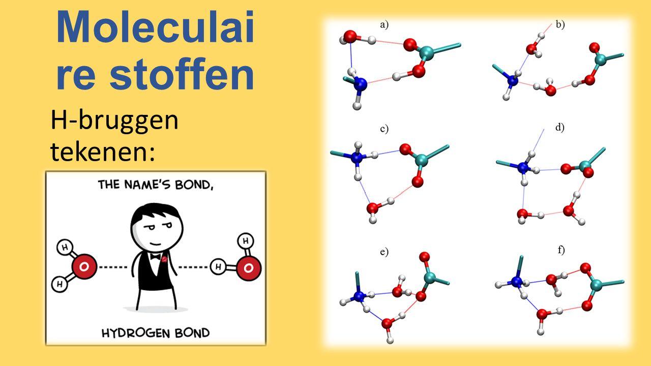 Moleculai re stoffen H-bruggen tekenen: