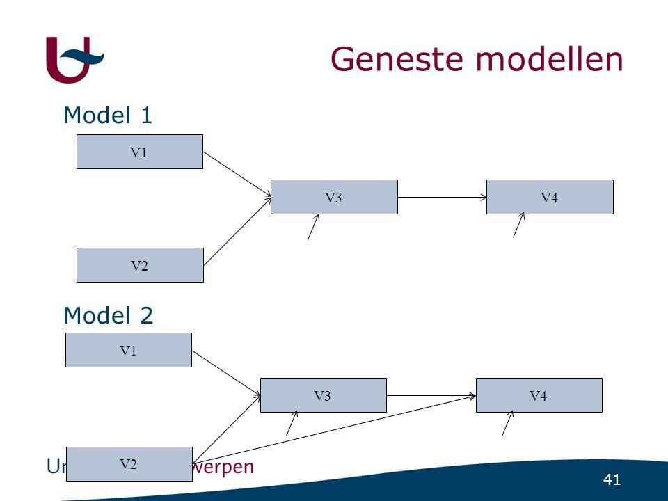 41 V1 V2 V3V4 Geneste modellen Model 1 Model 2 V1 V2 V3V4