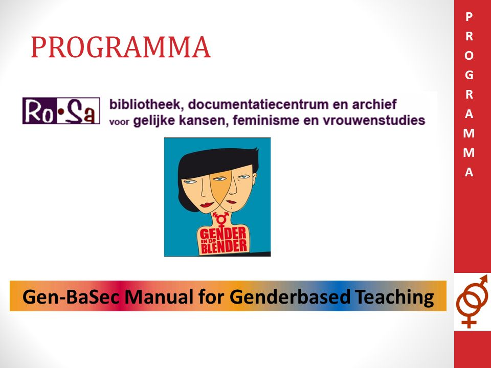 PROGRAMMA Gen-BaSec Manual for Genderbased Teaching