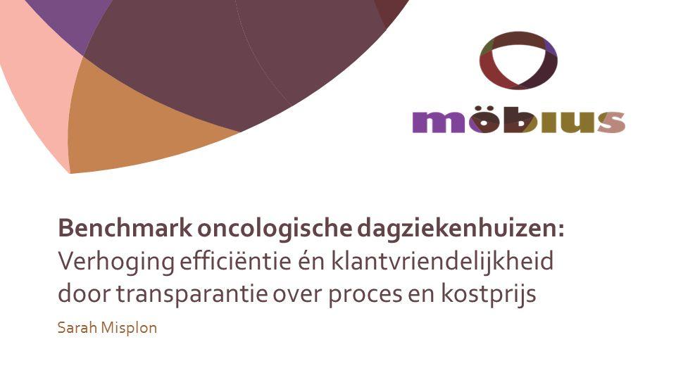 Benchmark oncologische dagziekenhuizen: Verhoging efficiëntie én klantvriendelijkheid door transparantie over proces en kostprijs Sarah Misplon