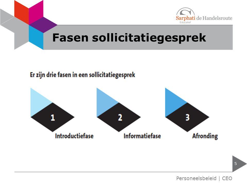 Fasen sollicitatiegesprek 5 Personeelsbeleid | CEO