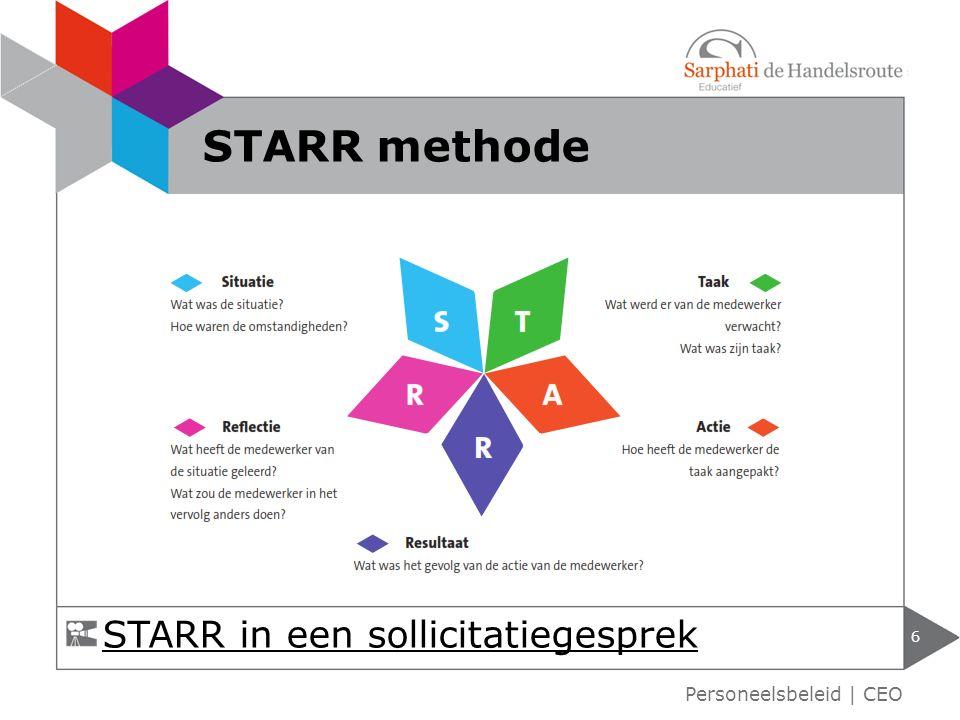 6 STARR methode STARR in een sollicitatiegesprek Personeelsbeleid | CEO