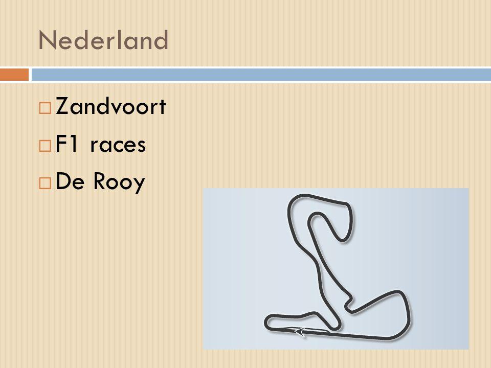 Nederland  Zandvoort  F1 races  De Rooy