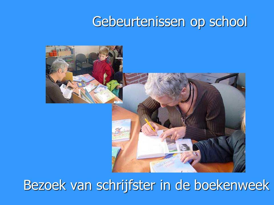 Bezoek van schrijfster in de boekenweek Gebeurtenissen op school