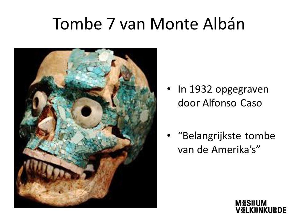 """Tombe 7 van Monte Albán In 1932 opgegraven door Alfonso Caso """"Belangrijkste tombe van de Amerika's"""""""
