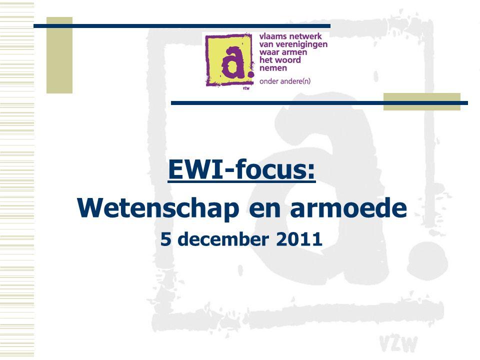 EWI-focus: Wetenschap en armoede 5 december 2011