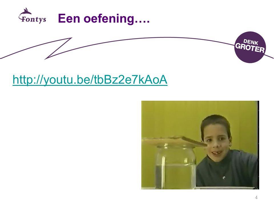 Een oefening…. http://youtu.be/tbBz2e7kAoA 4