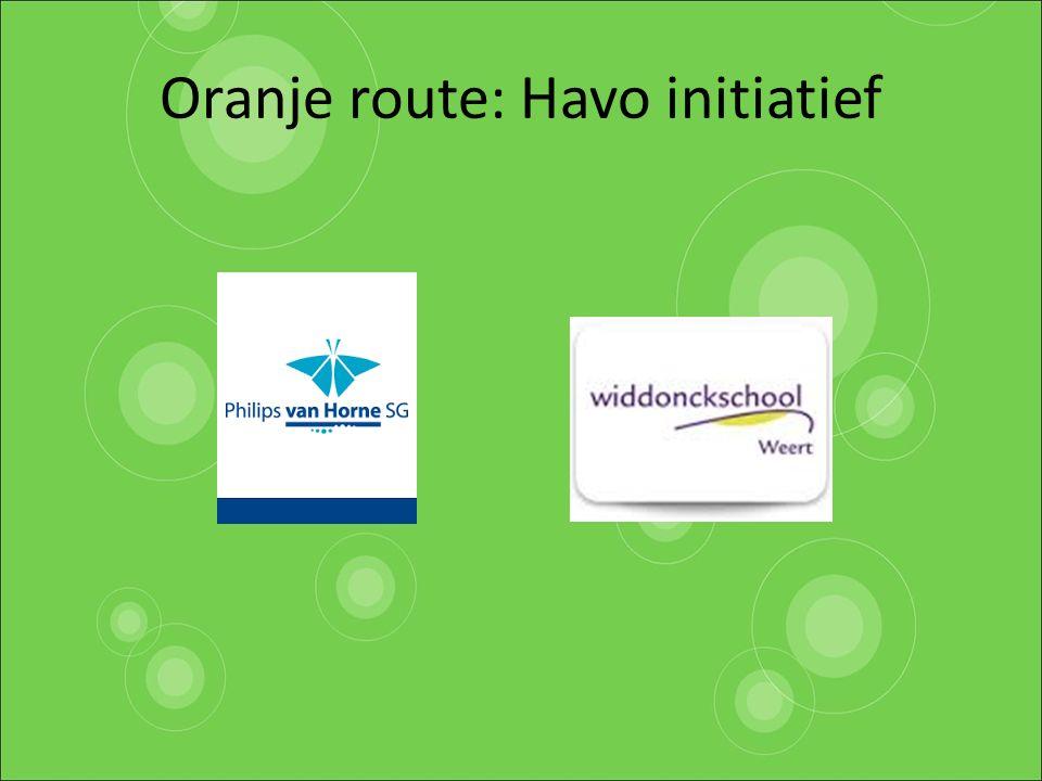 Oranje route: Havo initiatief