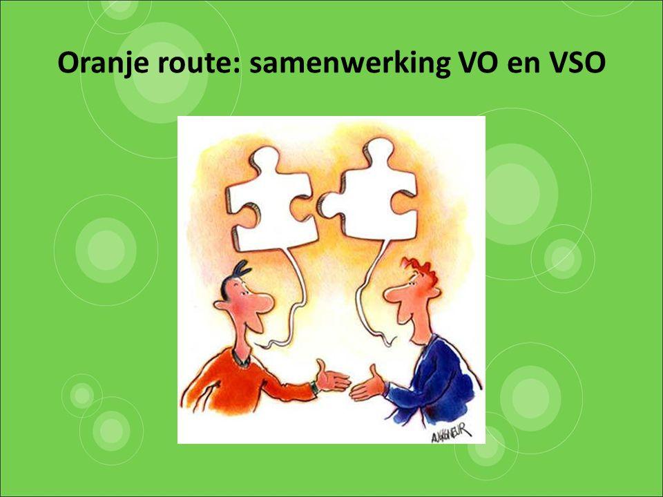 Oranje route: samenwerking VO en VSO