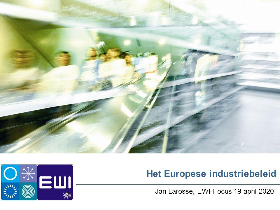Vlaamse overheid   Departement Economie, Wetenschap en Innovatie 2 Het Europese industriebeleid Agenda Wat is 'industriebeleid'.