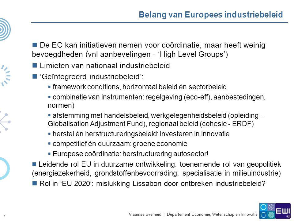 Vlaamse overheid   Departement Economie, Wetenschap en Innovatie Het 3% objectief: transformatie van de economie