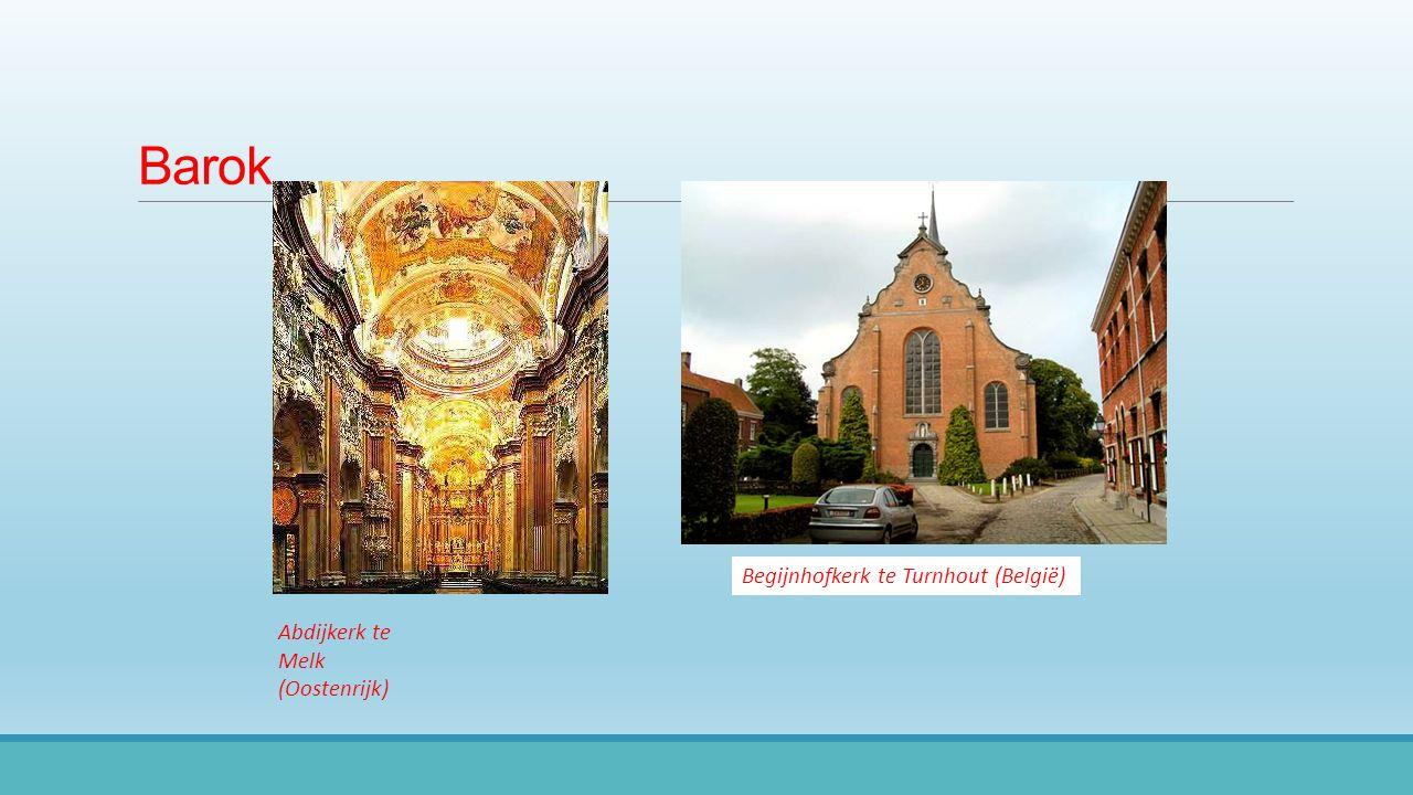 Barok Abdijkerk teMelk(Oostenrijk) Begijnhofkerk te Turnhout (België)