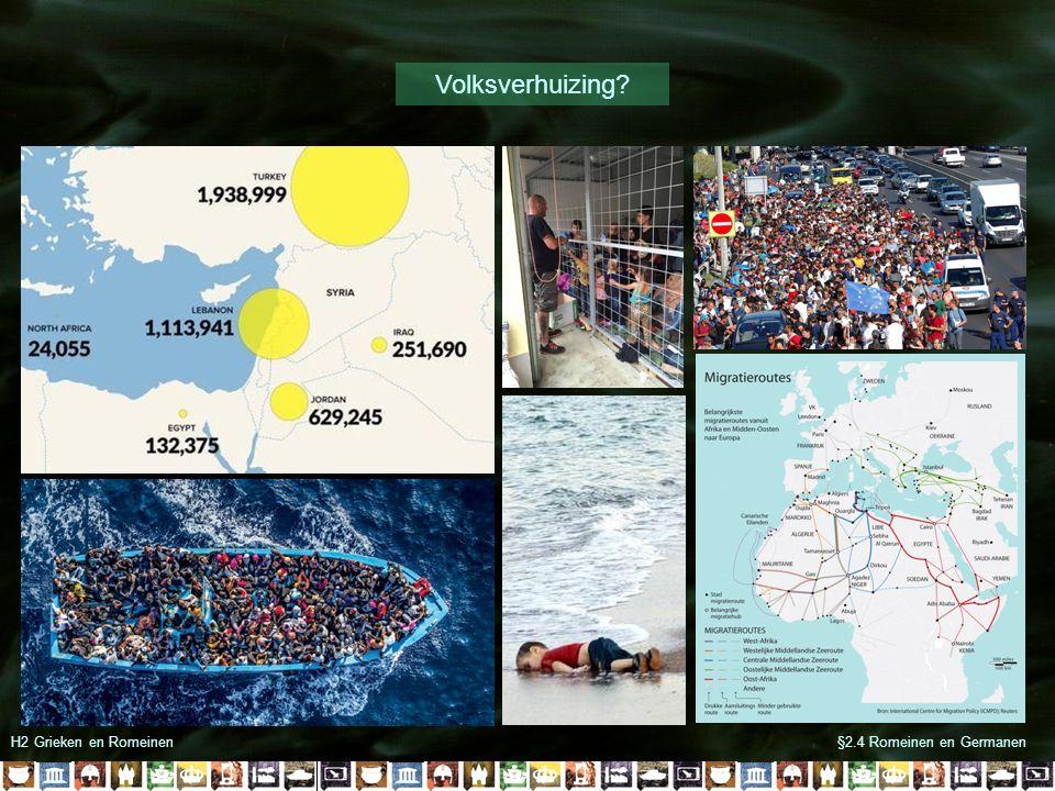 §2.4 Romeinen en GermanenH2 Grieken en Romeinen Volksverhuizing?