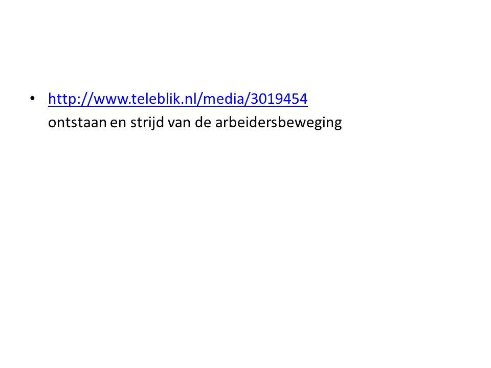 http://www.teleblik.nl/media/3019454 ontstaan en strijd van de arbeidersbeweging