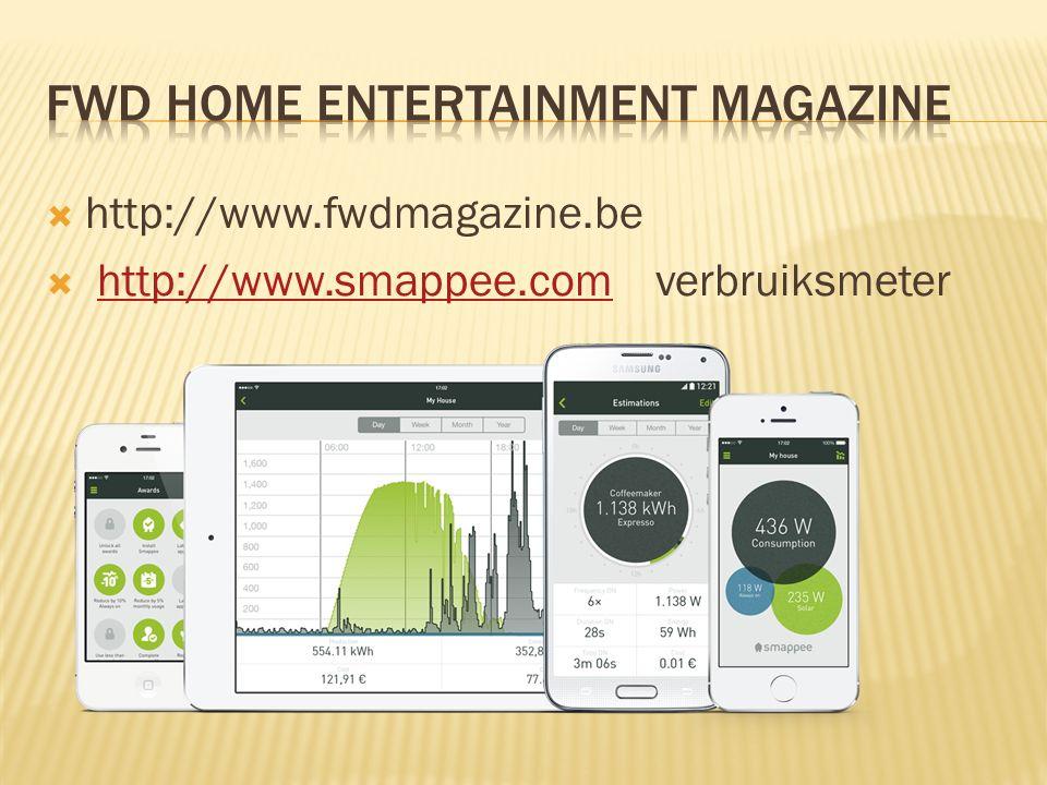  http://www.fwdmagazine.be  http://www.smappee.com verbruiksmeterhttp://www.smappee.com