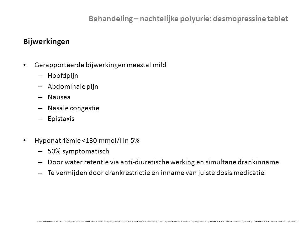 Van Kerrebroeck PE. BJU Int. 2002;89(4):420-425; Matthiesen TB et al. J Urol. 1994;151(2):460-463; Tullus K et al. Acta Paediatr. 1999;88(11):1274-127