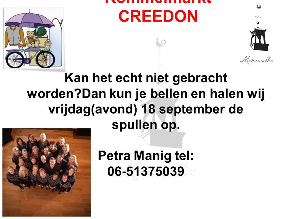 Kan het echt niet gebracht worden?Dan kun je bellen en halen wij vrijdag(avond) 18 september de spullen op. Petra Manig tel: 06-51375039 Rommelmarkt C