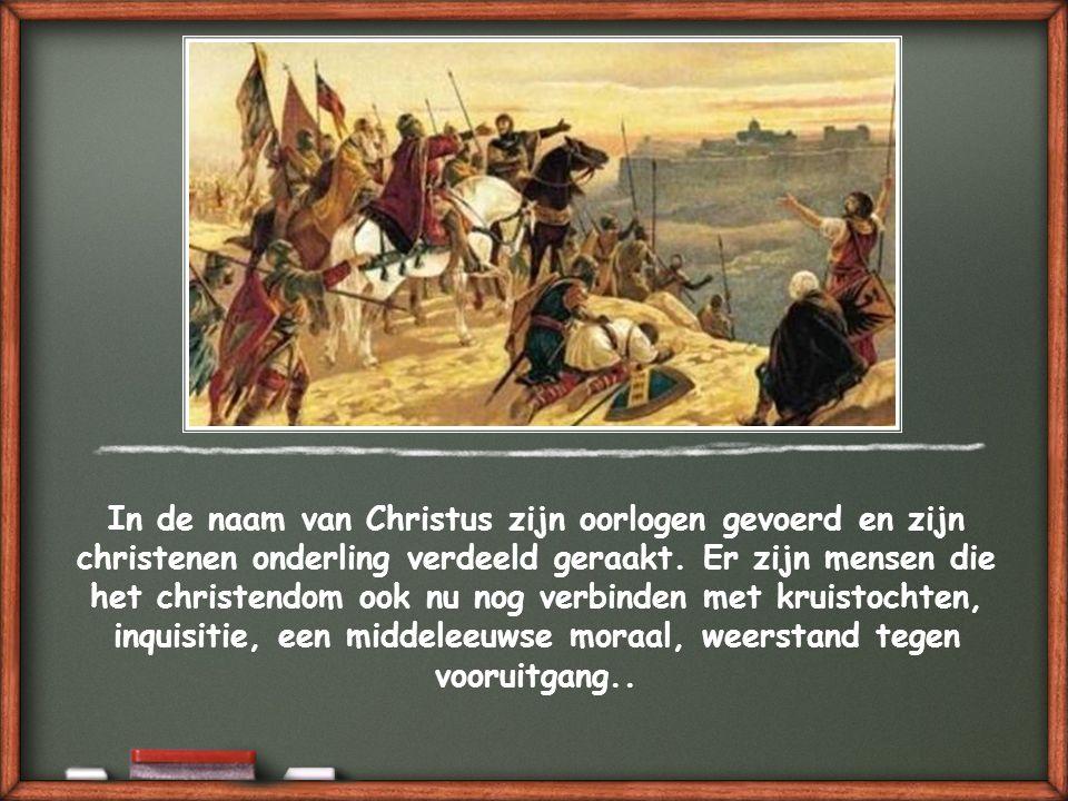 Helaas moeten we erkennen dat de geschiedenis van de christenen veel feiten laat zien die juist een antigetuigenis zijn.