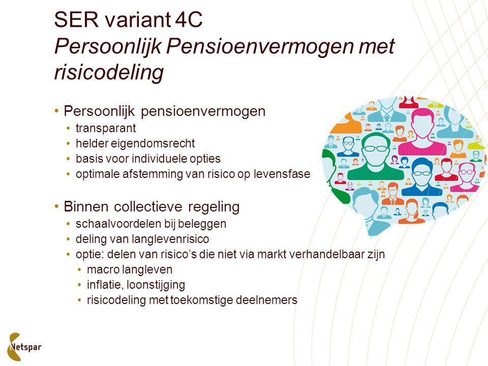 SER variant 4C Persoonlijk Pensioenvermogen met risicodeling Persoonlijk pensioenvermogen transparant helder eigendomsrecht basis voor individuele opt