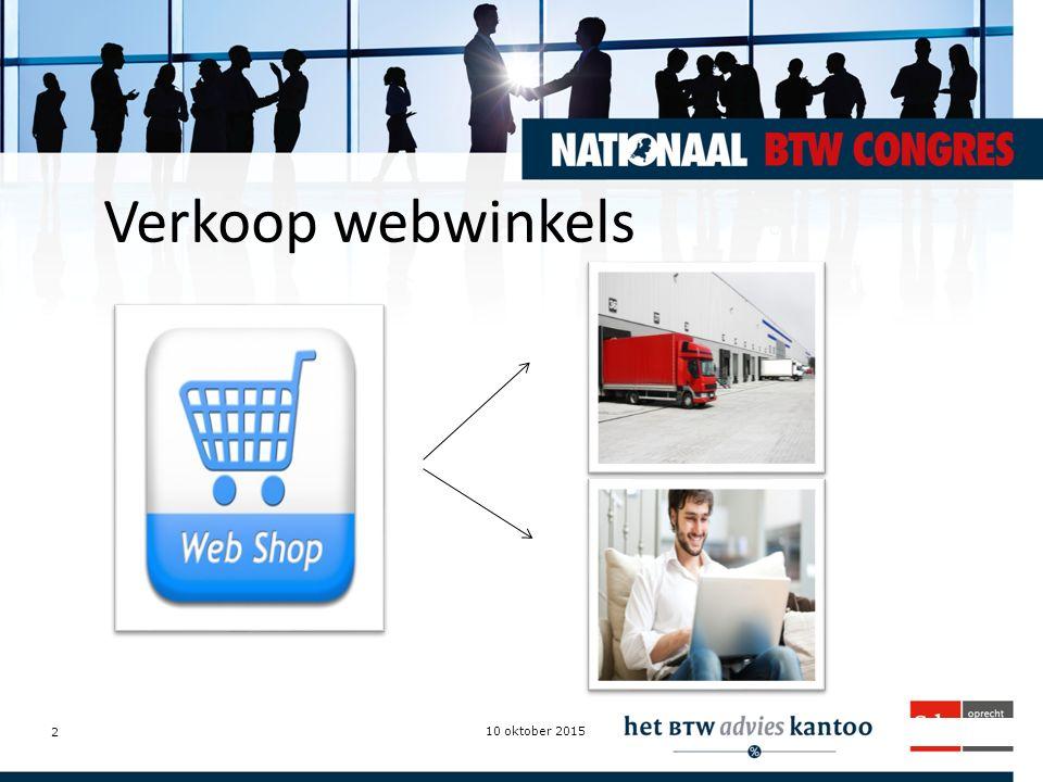 Intermediairdagen.nl Verkoop webwinkels 10 oktober 2015 2