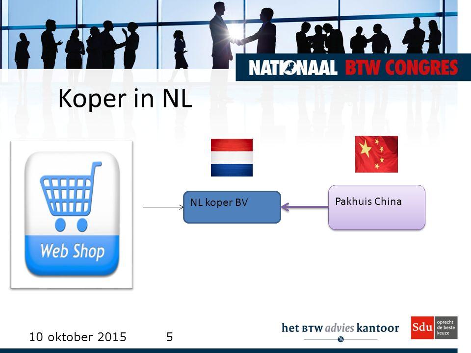 Koper in NL 10 oktober 20155 NL koper BV Pakhuis China